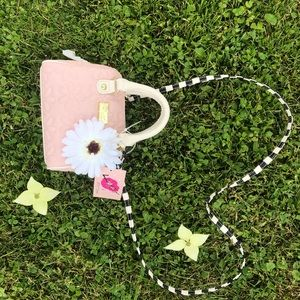 NEW Betsey Johnson Pink Floral Mini Purse
